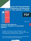 Propuesta Mineduc sobre financiamiento estudiantil