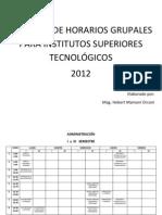 Modelos Horario Grupal - Institutos Superiores Tecnologicos 2012