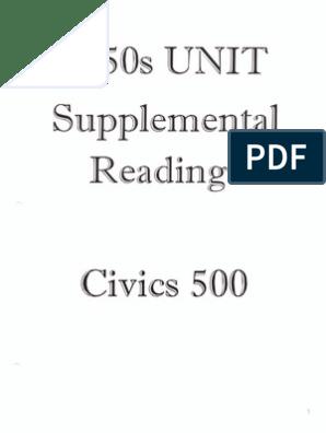 Supplemental Reading Suburb