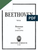 IMSLP12765-Beethoven - Romanze Op.50 - Simrock