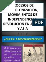 Procesos de Descolonizacion Movimientos de In Depend en CIA y
