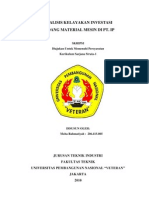 ANALISIS KELAYAKAN INVESTASI GUDANG MATERIAL MESIN DI PT. IP