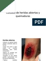 Cuidado de Heridas Abiertas y Quemaduras