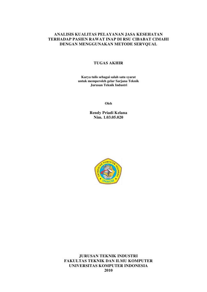 Analisis kualitas pelayanan jasa kesehatan terhadap pasien rawat analisis kualitas pelayanan jasa kesehatan terhadap pasien rawat inap di rsu cibabat cimahi dengan menggunakan metode servqual ccuart Images