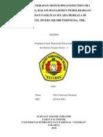 ANALISIS PENERAPAN SISTEM IPO (INSPECTION PRA OPERASIONAL DALAM MANAJEMEN PEMELIHARAAN GEDUNG DAN FASILITAS SECARA BERKALA DI PT. BRISTOL MYERS SQUIBB INDONESIA, TBK.