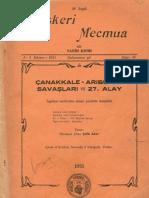 Çanakkale Arıburnu Savaşları ve 27nci Alay