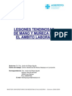 LESIONES TENDINOSAS MANO- MUÑECA. MME.word