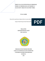 ANALISIS PERENCANAAN DAN PENGENDALIAN PRODUKSI PADA PEMBUATAN PRODUK BALLAST EKSPOR A-1 (STUDI KASUS DI PT. NIKKATSU ELECTRIC WORK)