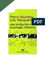 Una Invitacion a La Sociologia Reflexiva