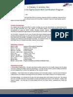 Blended - LSS Green Belt Certification - Spring 2012 (1)