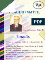 Claudio Matte-Luciana Rojas