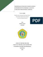 PENGARUH KOMPENSASI (UPAH) DAN FASILITAS SOSIAL TERHADAP PRODUKTIVITAS PEKERJA LANGSUNG DI PT. SIPATEX PUTRI LESTARI - BANDUNG
