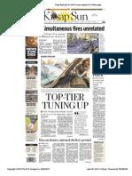 Kit Sap Sun Front Page April 92012