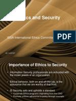 ISSA Ethics Presentation 20070427