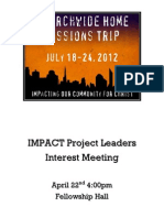 IMPACT Project Leaders Packet
