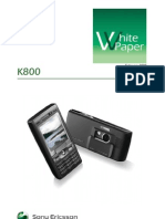 Sony Ericsson K800/K800i Whitepaper R1A