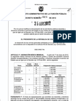 TABLA SALARIAL DOCENTES 1278 EN EL 2012