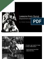 Lessons from Guruji