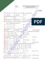 Đề + đáp án giải tích 2 - ĐH Bách Khoa TPHCM 2011 ca1