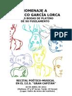 Recital de homenaje a Lorca
