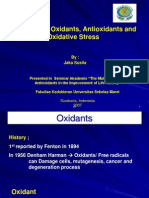 A Review of Oxidants, Antioxidants and Oxidative