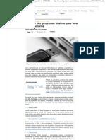 Conheça dez programas básicos para levar no seu pendrive - 17_02_2011 - UOL Tecnologia - Da Redação