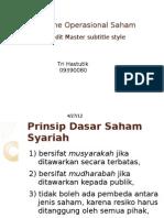 Mekanisme Operasional Saham Syariah