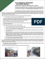 Ssvk Bihar & Krishna Arpanam Mumbai flood relief intervention in Madhepura district