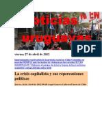 Oticias Uruguayas Viernes 27 de Abril de 2012