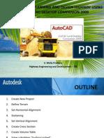 Basic Guidelines Planning and Design Highway Using Autocad Land Desktop Companion 2009