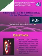 Técnicas Modificación de Conducta