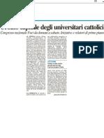 Urbino capitale degli universitari cattolici - Il Resto del Carlino del 24 aprile 2012