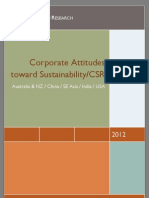 Corporate Attitudes Toward Sustainability in Asia
