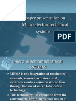 Micro Electro Mechanical Systems Paper 1
