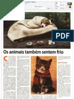 Os animais e o frio