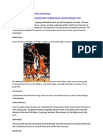 The Anatomy of Basketball and the Vertical Jump