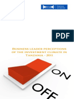 Business leaders perceptions of the enabling environment in Tanzania 2011