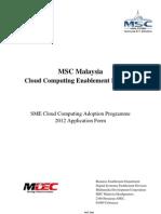 MSC Cloud Incentive Form