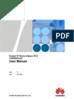 Huawei IP Phone eSpace 7810 User Manual-(V100R001C02)