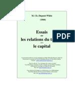 Dupont White - Essai Sur Les Relations Du Travail Avec Le Capital