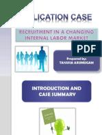 Application Case Chapter 6 Internal Recruitment