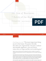 The Zen of Business - 7 Habits of the Highly Creative