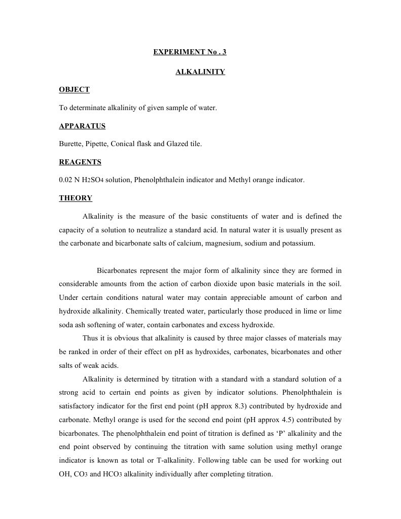 Lab manual on environmental engineering water and waste water manual on environmental engineering water and waste water engineering alkalinity titration fandeluxe Image collections