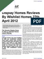 Display Homes Reviews By Wishlist Homes 27th April 2012