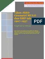 SSW - Matematika Klasik - Ujian Geometri MULO 1907-1957 - Contoh