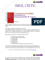 Drumul Crtic in Managementul Proiectelor