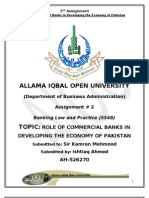 Role of Commercial Banks in developing the Economy of Pakistan