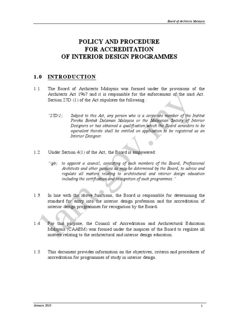 LAM ID Policy N Procedure