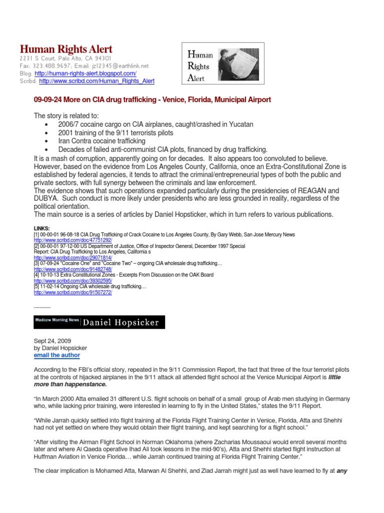 09 09 24 More On Cia Drug Trafficking Venice Florida Municipal