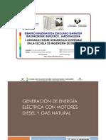 Generación eléctrica con motores diesel